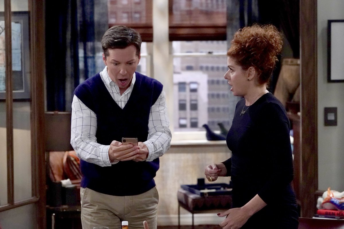 """Check out these special pics from tonight's episode of """"Will & Grace"""".  We also have special Broadway guest star, Seth Rudetsky, who is joining us on tonight's episode.  It's """"Annie-Con"""", people!!!! #WillandGrace"""