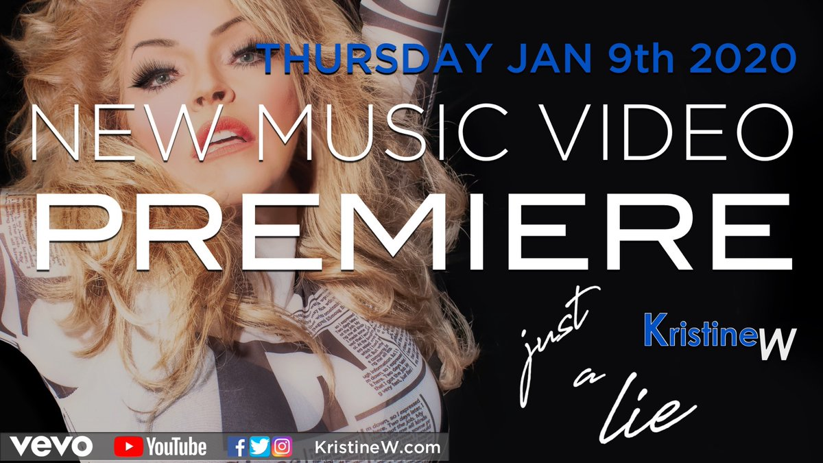 """The brand new """"Just A Lie"""" music video is out, and my heart goes out to everyone who's been showing it love! ❤️ If you haven't seen it yet, check it out here:   #JustALie #MusicVideo #KristineW #diva #indiepop"""