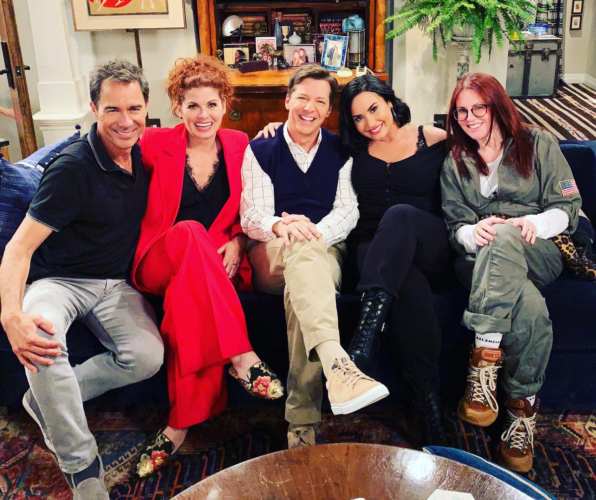 """The couch is back in action tonight on an all NEW episode of """"Will & Grace"""" with guest-star, Demi Lovato, at 9/8c on NBC. #WillandGrace"""