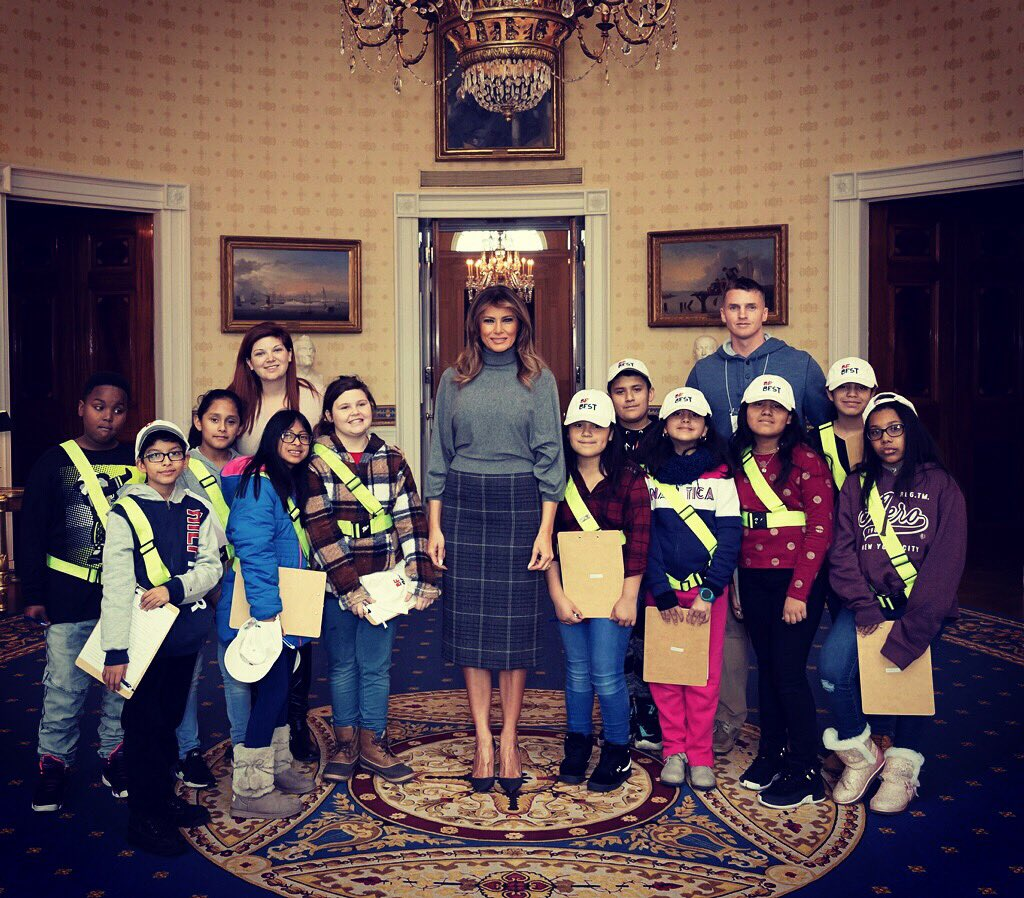 A great afternoon at the @WhiteHouse, reconnecting with the wonderful students from West Gate Elementary school. Inspired by how these children are growing into the best versions of themselves. #BeBest