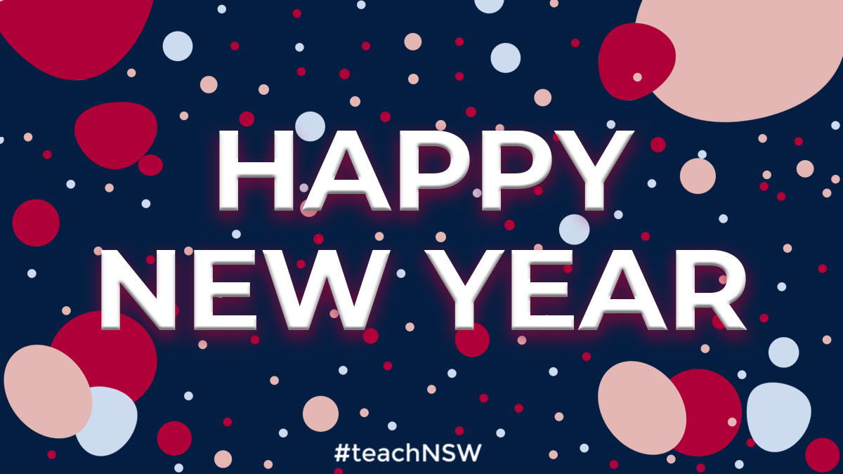 Wishing all the current and aspiring public school teachers in NSW a happy new year! We look forward to seeing you in 2020.  #teachNSW #greatplacetowork #happynewyear https://t.co/oXKIKNUeIy