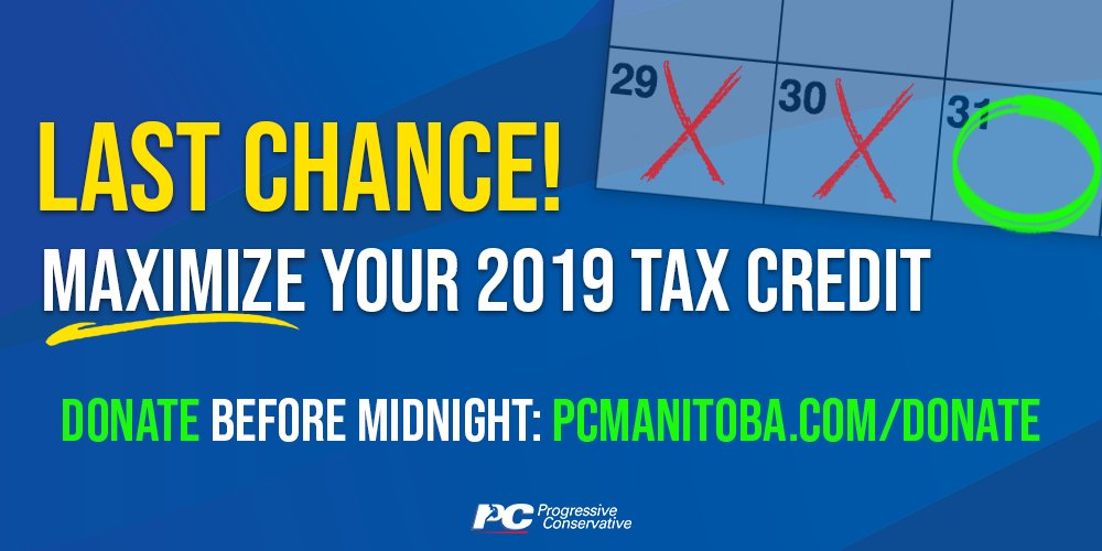 test Twitter Media - Have you made your final donation yet this year?   If not, do it now before it is too late! You can donate here: https://t.co/oDy2OFwQ50   #mbpoli #MovingManitobaForward #BetterMB #cdnpoli https://t.co/mFMmWKJVGH