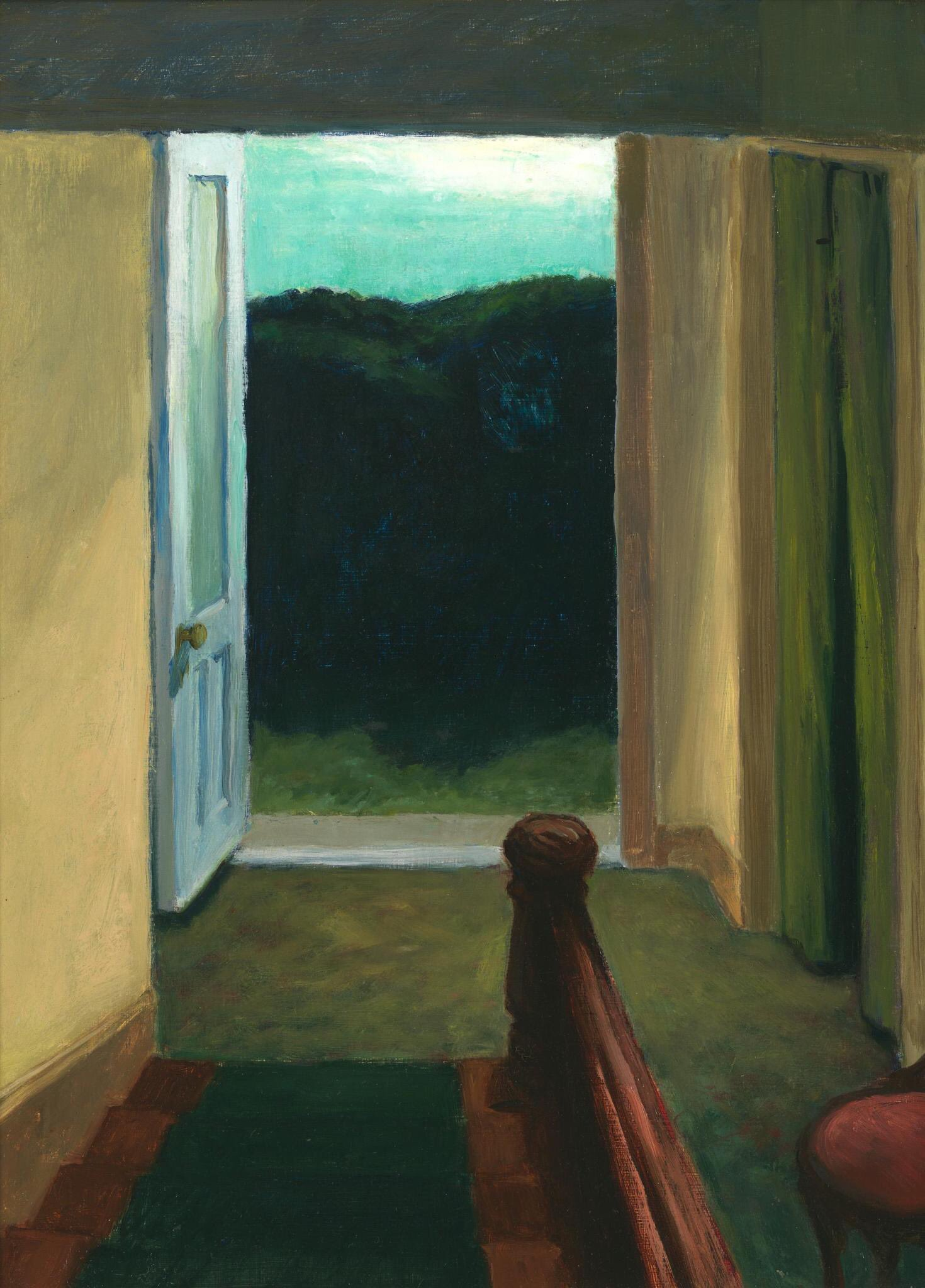 Edward Hopper (1882 - 1967) Stairway, 1949  Whitney Museum of American Art https://t.co/iaZZ5uN262