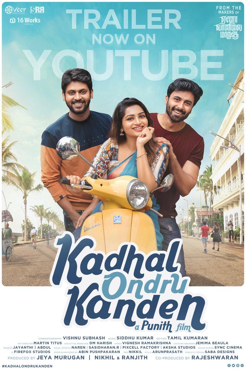 Happy to share the trailer of the short film #KadhalOndruKanden    Best Wishes to the team #KOK @rio_raj @i_amak @nakshathra__ @Bala_actor @i_am_punith @onlynikil @16worksmedia1 @veerproductions @Rajeshwaran_SRR #KadhalOndruKanden #KOK