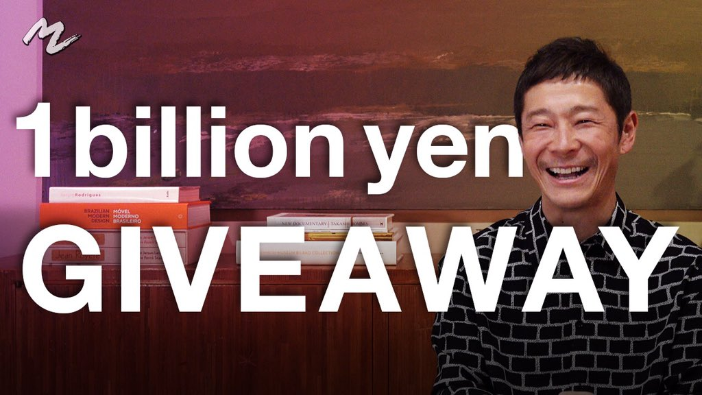In 2019, I did a 100 million yen giveaway on Twitter (1M yen to 100 winners). I hold the record for the most retweeted tweet.  In 2020, I did a giveaway of up to 1 billion yen.  This social experiment will study the effects of UBI.  Will you be happier if you were given 1M yen?