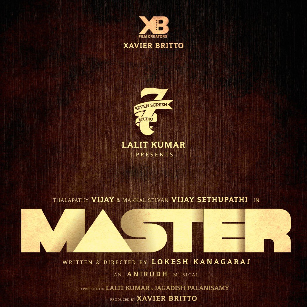 We are extremely delighted to present #Master. #April2020