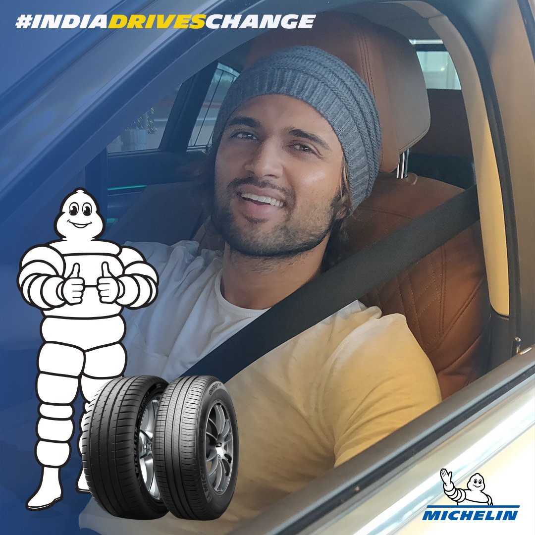 From driving a truck in Pelli Choopulu, to bikes in Arjun Reddy, and doing donuts in Taxiwaala. I always love driving and with #MichelinTyres' initiative of #IndiaDrivesChange I want everyone to drive safely and be the hero on the road. @MichelinIndia