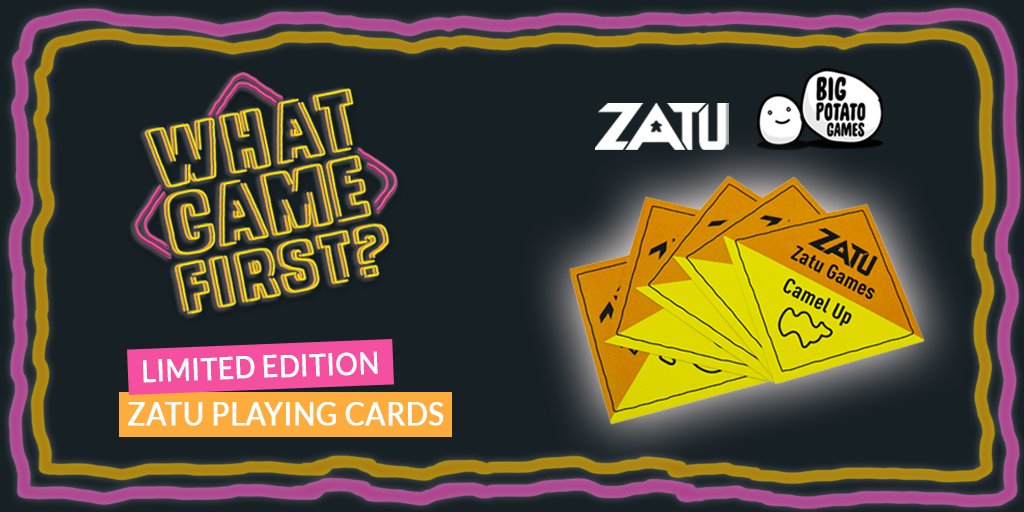 Are you a fan of @bigpotatogames? Well, we have a super exciting offer launching today!🎉  The first 50 to order a copy of What Came First will receive a FREE limited edition card to go with their new game. There is a limited number of custom Zatu cards so be quick... GO, GO, GO! https://t.co/QfamtOgWJC