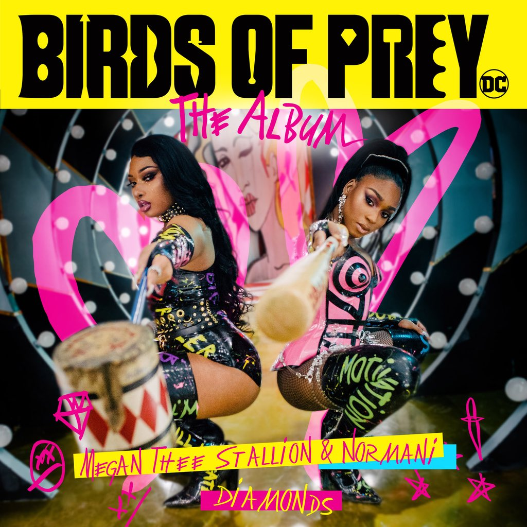 """I'm so hype for #birdsofprey to come out 🥰 finally got a chance to link with the trillest @theestallion hope y'all enjoy """"DIAMONDS"""" coming soon 💎💎💎"""
