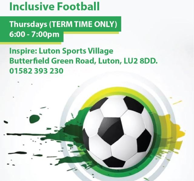 RT @teamBEDS: All Inclusive Football! ⚽  Sessions are designed to get children with disabilities more active in a safe and fun environment!  No need to book!  📆 Thursdays ⏰ 18:00 - 19:00 🏃♂️ 5-16 years old 🗨️ £3 per session 📍 Inspire: Luton Sports Village   #ActiveBedfordshire