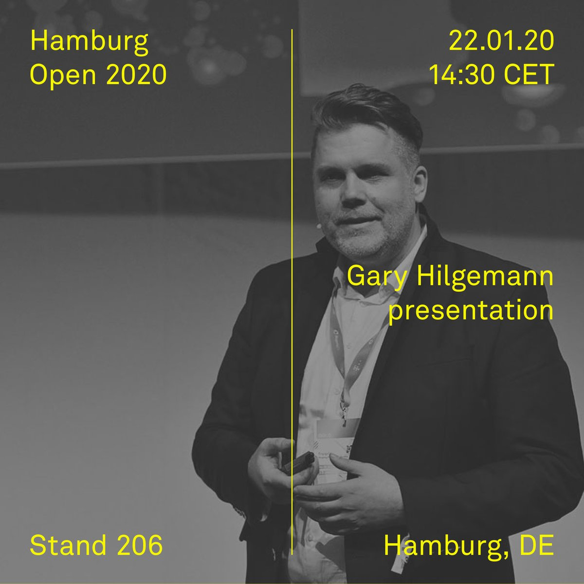 test Twitter Media - We're delighted to present 'AI in real life' a presentation with Gary Hilgemann from Rebotnix technologies, today at the Hamburg Open from 14:30 CET at our stand 206. #elements #garyhilgemann #ai #artificialintelligence #hamburgopen #hamburgopen2020 https://t.co/NvX7OpAh40