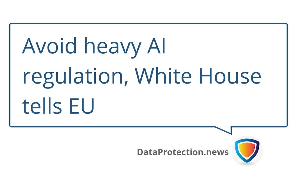 test Twitter Media - Avoid heavy AI regulation, White House tells EU ▸ https://t.co/ShYrzYHwUx  #ArtificialIntelligence #AI #Dataprotection #Privacy https://t.co/uNNOtx7Emm