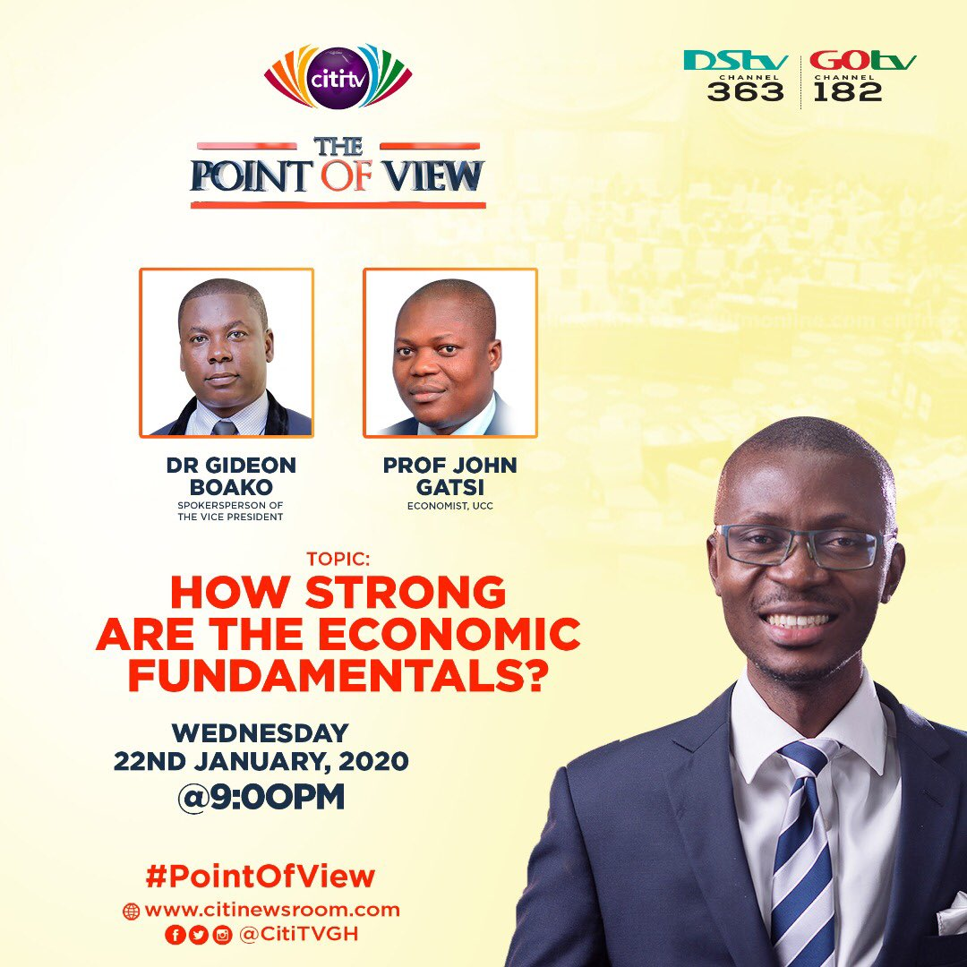 How far with the fundamentals? Join me on the #pointofview tonight on @CitiTVGH