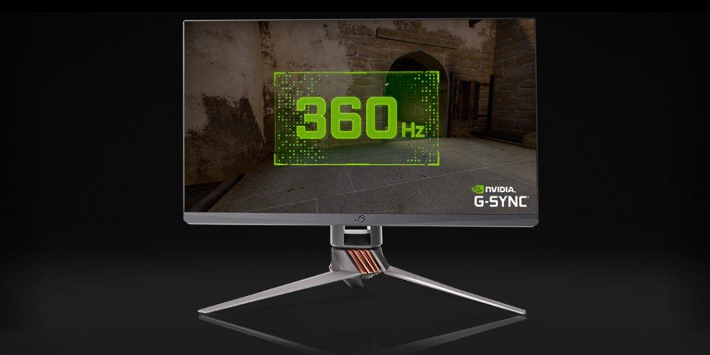 Nouvel écran @ASUS_ROG_FR Swift 360Hz optimisé pour l'Esport 🚀  ✅ Taux de rafraîchissement inédit de 360 Hz ✅ G-SYNC ✅ Écran 24,5″ ✅ Full HD 1080p