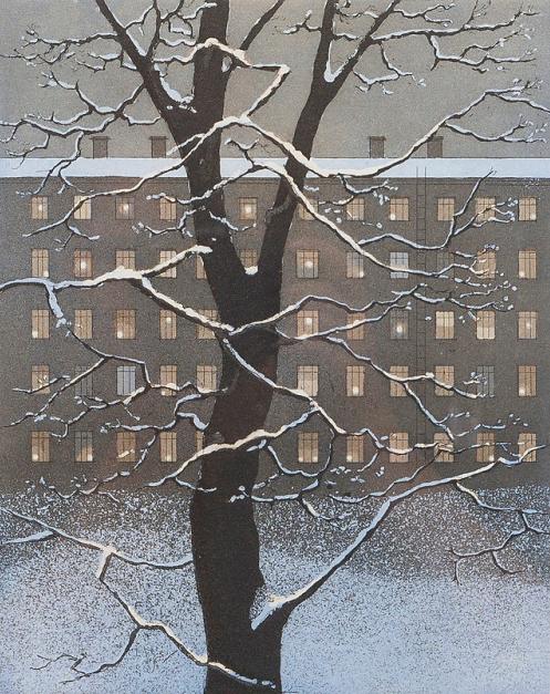 'Winter City.' Colour #etching by Elina Luukanen #art https://t.co/E1TbDKHViT