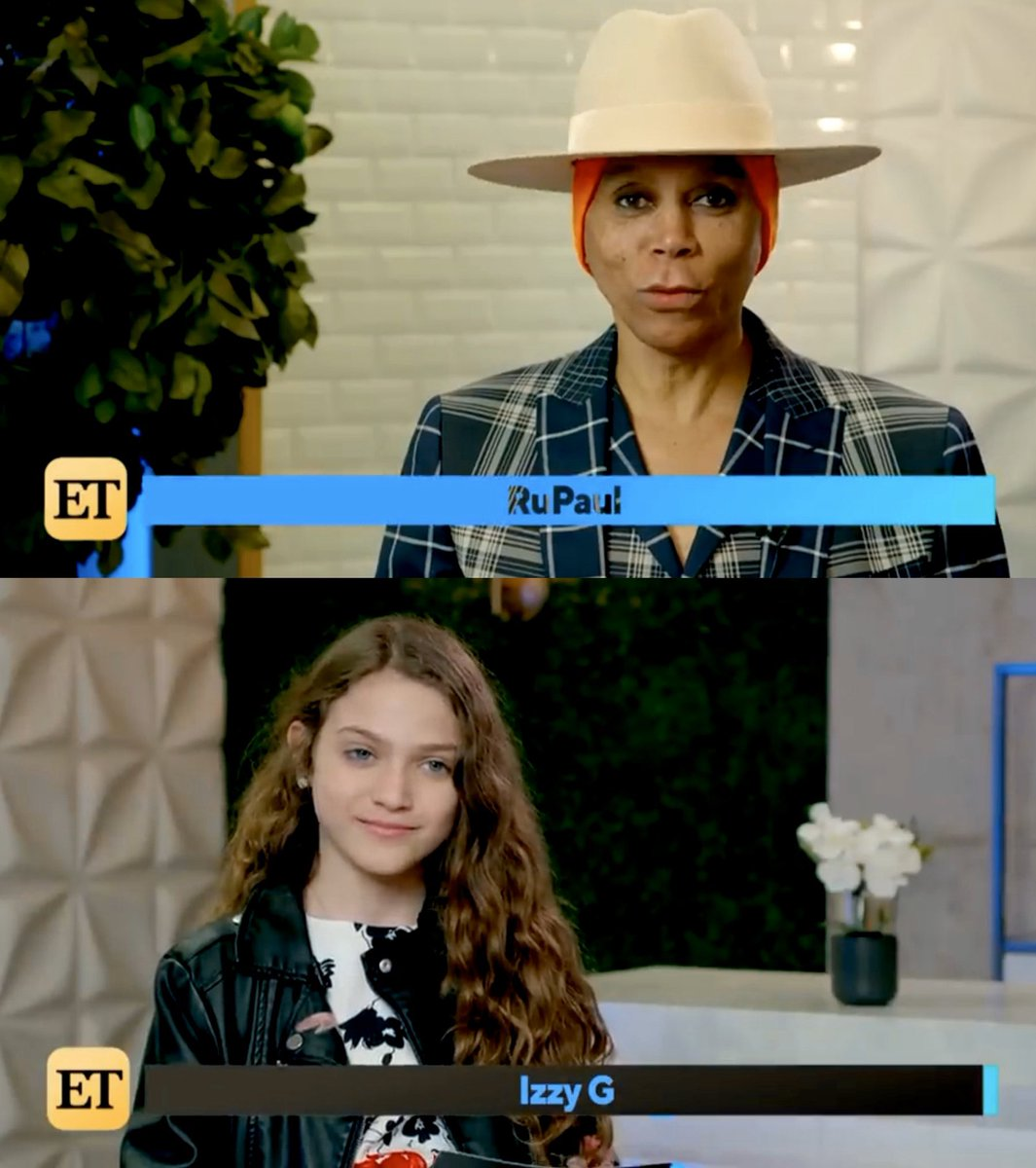 "Ru and I and our interview interviewing each other.  Thank you @etnow!  #AJAndTheQueen #RuPaul #IzzyG   ""AJ and the Queen: RuPaul and Izzy G Spill Show Secrets and Talk Season 2..."