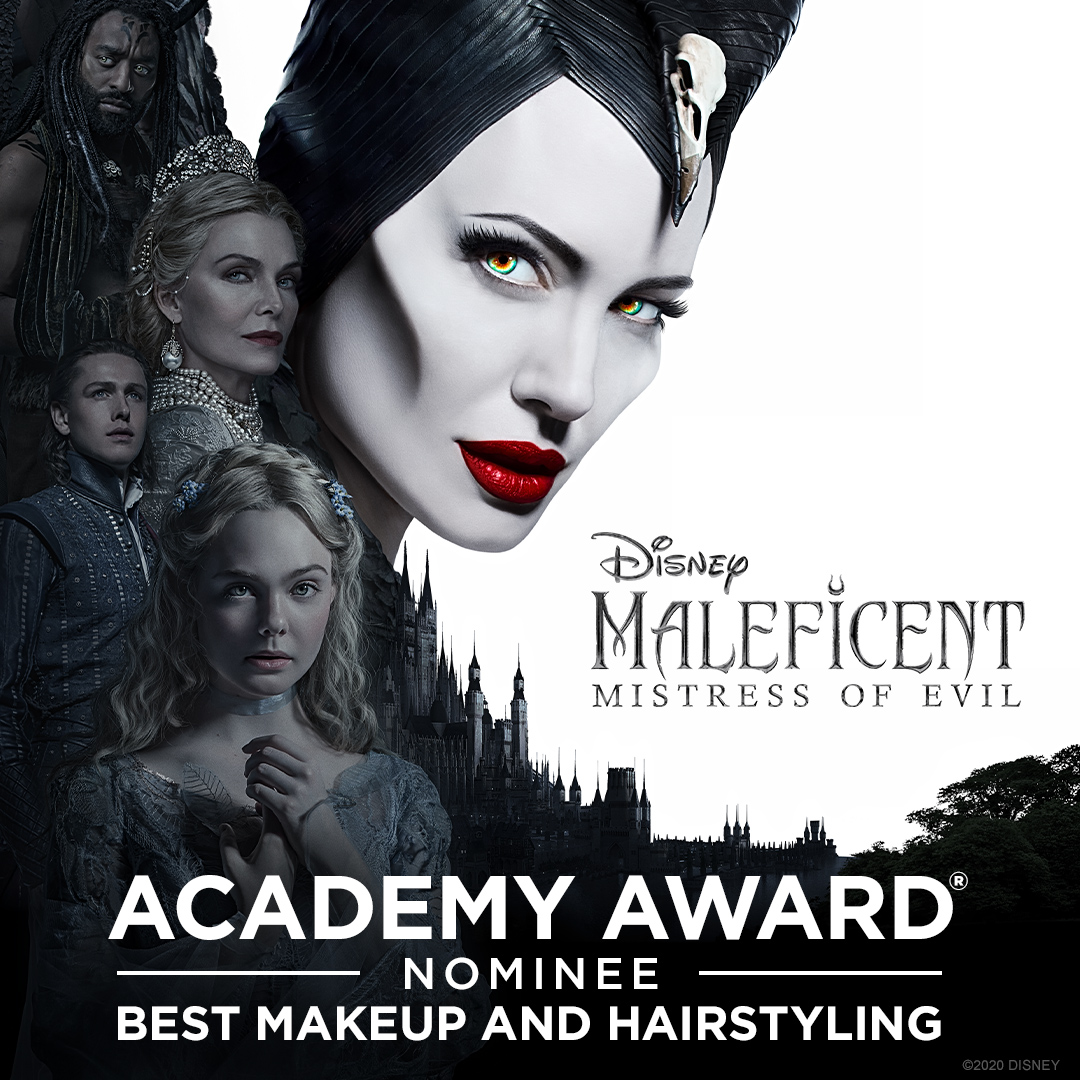 Maleficent: Mistress of Evil has been nominated for an Academy Award for Best Makeup and Hairstyling. Congratulations! #OscarNoms