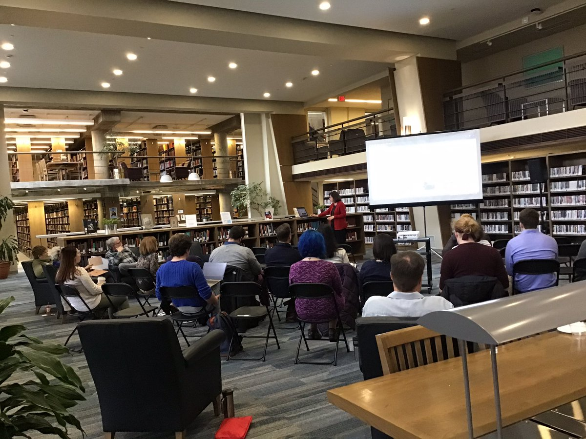 test Twitter Media - Happening now, the Winter Institute for Teaching and Technology in the Library's Engelhard Reading Room from 9:00 am to 2:00 pm. https://t.co/m1bq4808Md