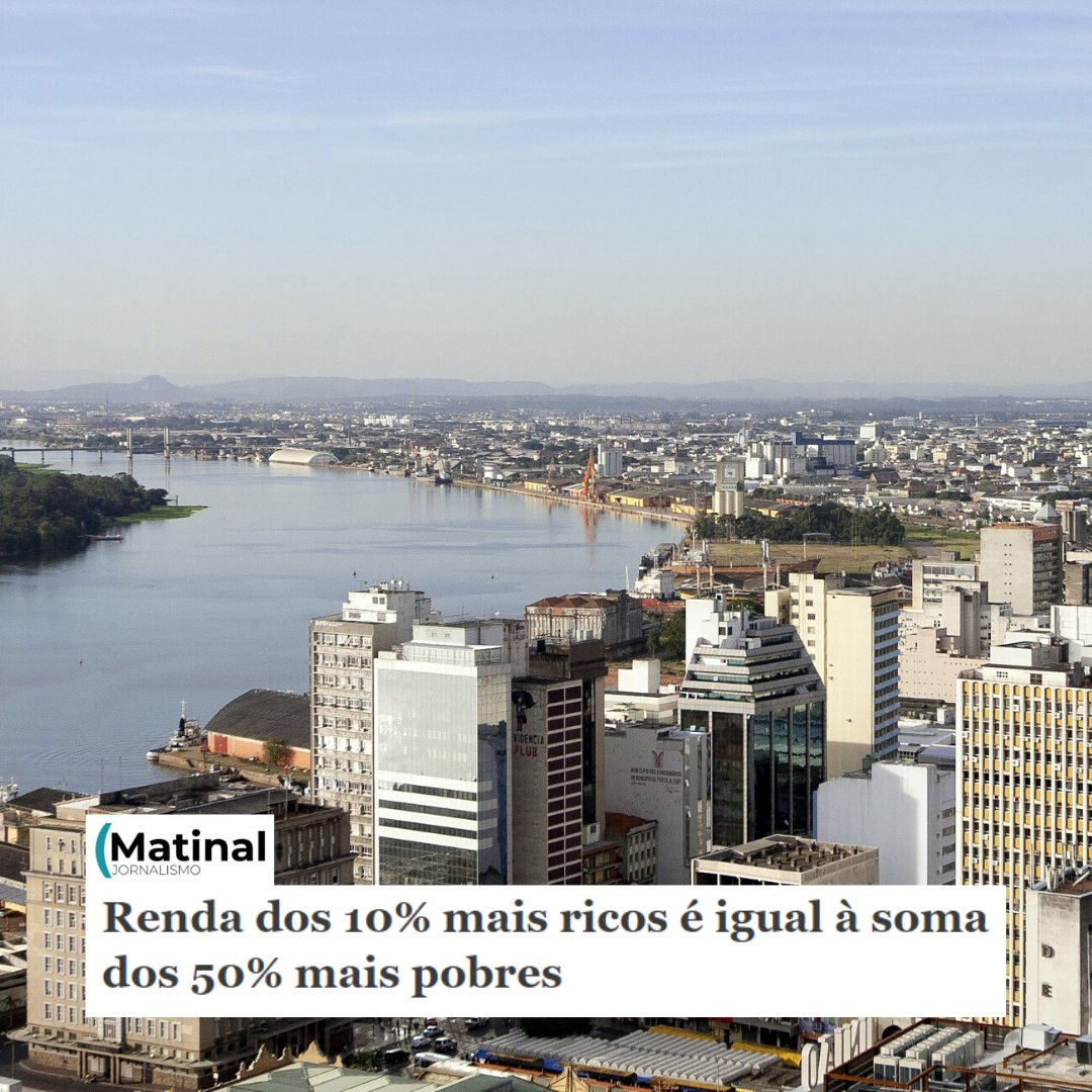 O grupo @newsmatinal produziu uma reportagem ilustrando como Porto Alegre entra nos anos 2020. De acordo com o levantamento, os mais ricos estão na região central da cidade e em algumas regiões da zona Sul, à beira do Guaíba, enquanto os mais pobres estão na periferia.