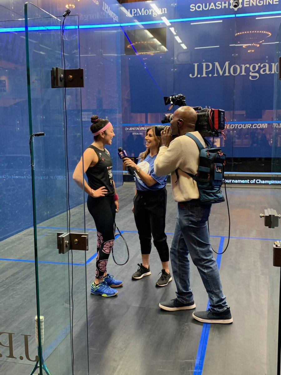 test Twitter Media - Love a good 7:30am interview! 😂😂  Thanks @TinaCervasio & @fox5ny for helping us showcase this beautiful game called squash 🙌🏽🙌🏽🙌🏽 #TocSquash #Toc20 https://t.co/4KwHpJitzW