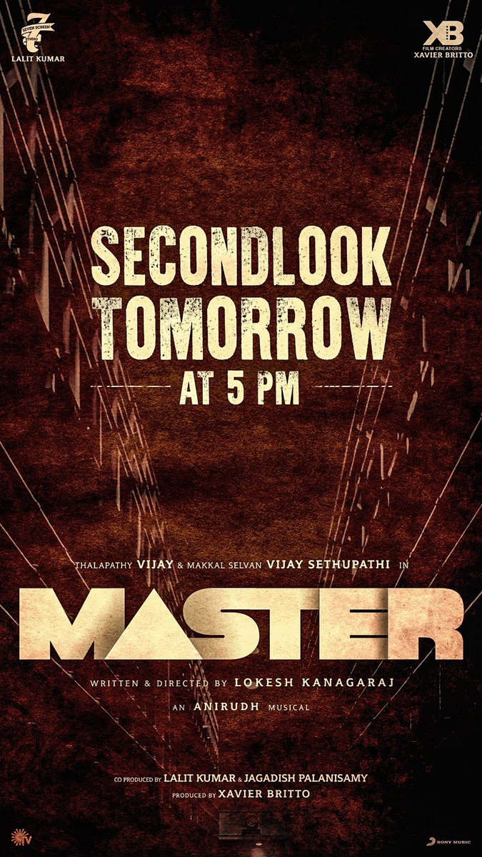 Second look poster of #Master tomorrow at 5pm