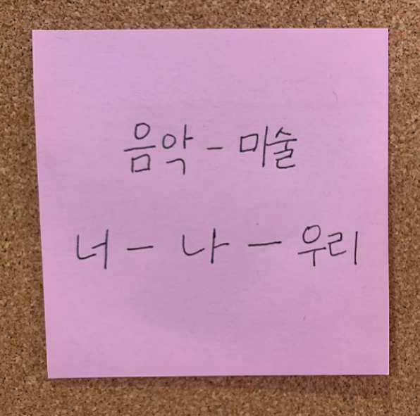 Music-Art You-I-We #BTS_CONNECT  A note from BTS via @hansulrichobrist