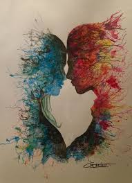 Saturated hues, on canvas of love, mixing well to become one, seeking pleasure in blending, then will find peace, to experience what they've never dreamed of, the world of euphoria they'll surely receive #MadVerse  Painting by Gordito Kerg https://t.co/7sSHr3iM8I