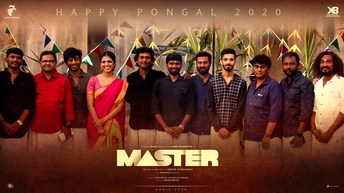 Happy pongal from the team #MASTER  #MasterSecondLook today at 5pm nanba👍