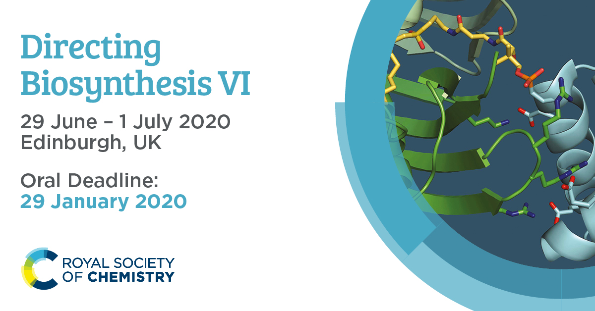 Don't miss out on the chance to showcase your latest research at Directing Biosynthesis VI alongside a host of world-class speakers.  There are only two weeks left to submit your oral abstract – so act now ➡️