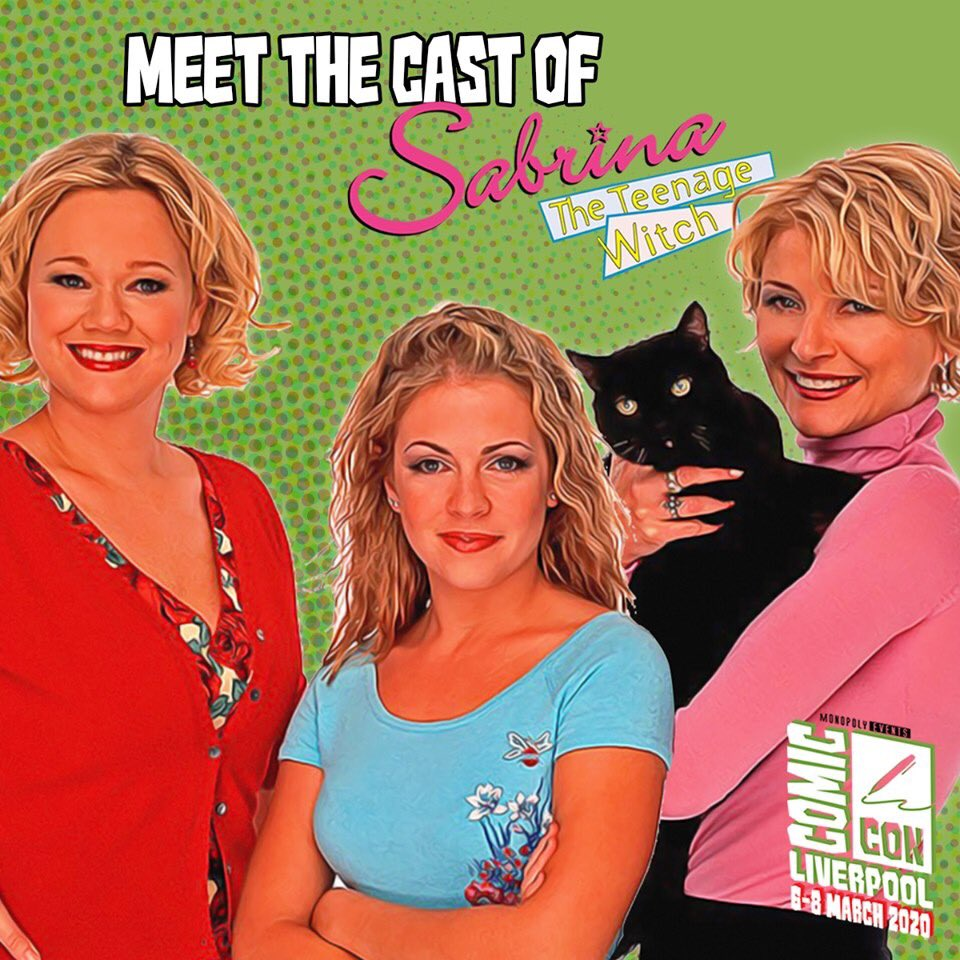 ✨ SABRINA THE TEENAGE WITCH EXCLUSIVE  @ComConLiverpool MARCH 7-8 @MelissaJoanHart // @BethBroderick // @CarolineRhea ✨  #sabrinatheteenagewitch  reunion in #liverpool in #march   We can't wait!    GROUP PHOTO ON SALE NOW!