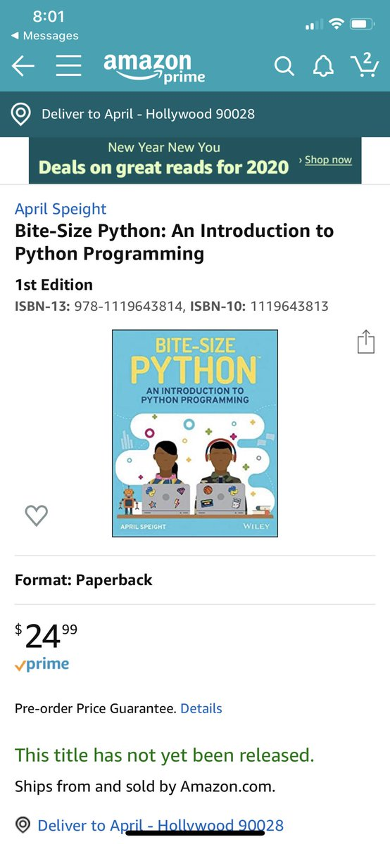 📢 Announcement:  You can now pre-order my new children's Python book on Amazon! 📚  Bite-Size Python: An Introduction to Python Programming 🐍   Cover looks familiar? They're the kids I designed last year (with many more inside)! 👩🏾💻👨🏻💻👩🏼💻👨🏽💻👩🏻💻👨🏿💻  Order Now: