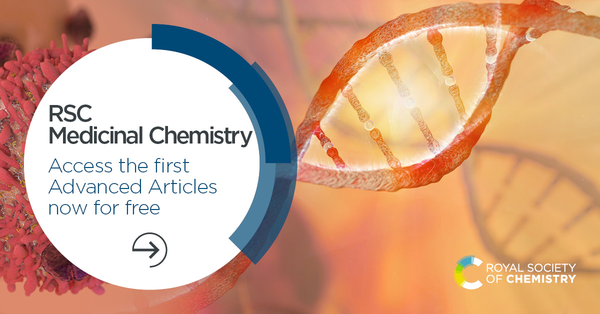 First articles!   Led by our expert editorial board, @rsc_medchem will build on the reputation you have come to know, publishing significant advances in medicinal chemistry & drug discovery science.  Read the articles for free ➡️