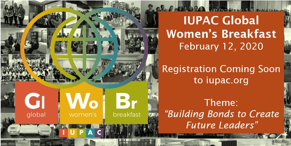 """We are proudly supporting the 2020 Global Women's Breakfast.   The theme for this year is """"Building bonds to create future leaders"""". We are offering up tp £500 for those hosting events. To learn more ➡️  @IUPAC #GWB2020 #ChemEquality"""