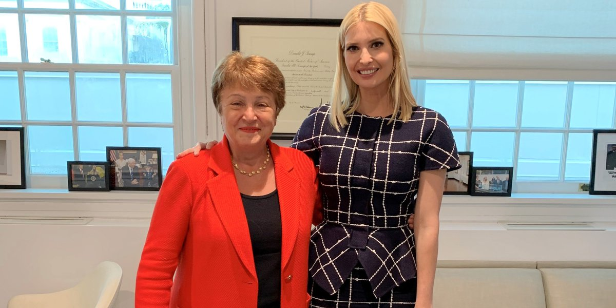 Today I met with @IvankaTrump, who has championed the Women's Global Development and Prosperity initiative. This initiative's goals are well aligned with the IMF's to promote women's economic empowerment which leads to growth, prosperity, and stability. #WGDP