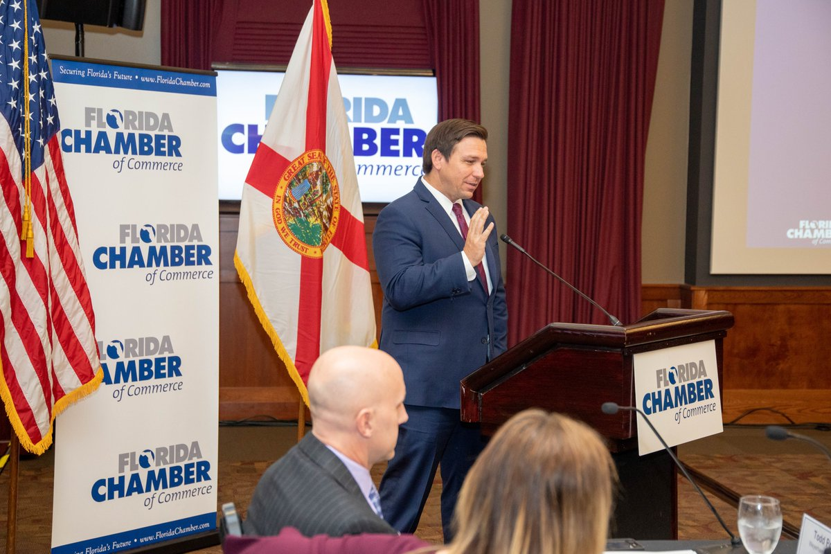 Enjoyed speaking at @FlChamber's #FCCFlyIn20 today to discuss Florida's low taxes, reasonable regulatory climate and positive disposition toward business. Our state continues to thrive, and our business leaders continue to pave the way for Florida's success.
