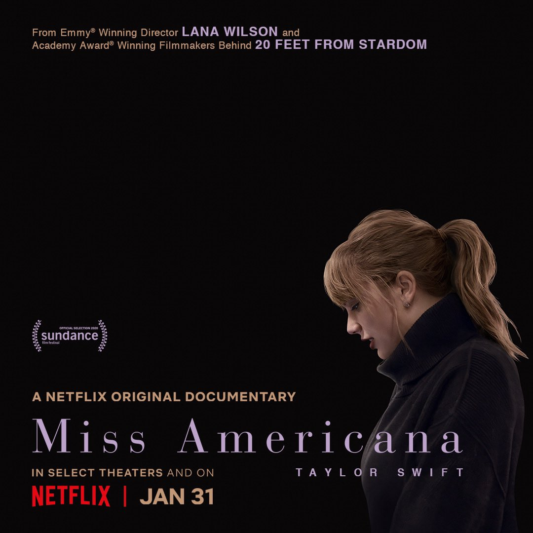 Miss Americana 🎬 January 31 on @NetflixFilm  https://t.co/Ot56y6jnCs https://t.co/hrnxN5IxuY