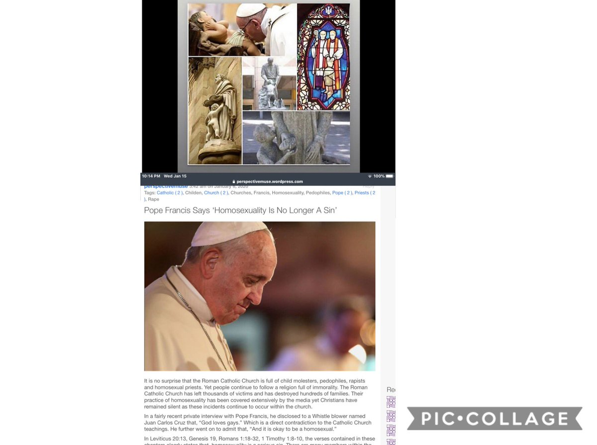 😲#popefrancis #says #homosexuality 😷 #not #sin 🤬#anymore 😲👎🏿 #ComeOutOfHer⛪️#leviticus20and13
