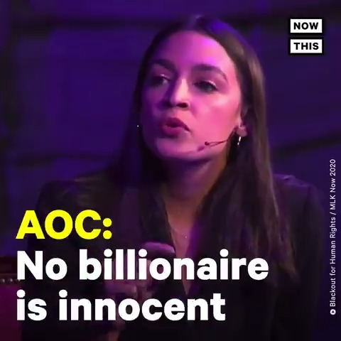 'No one ever makes a billion dollars. You take a billion dollars.' — @AOC pulled no punches when discussing income inequality, capitalism, and the ultra wealthy's grip on power in the U.S. https://t.co/mQZpKotA0i