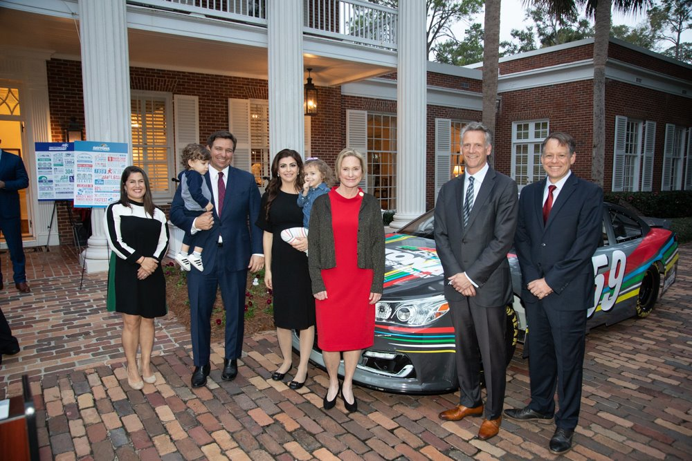 Yesterday, @FLCaseyDeSantis and I were honored to host @NASCAR leadership at the Governor's Mansion. NASCAR is a part of Florida's sporting DNA and a major economic engine generating thousands of jobs and injecting more than $1.6 billion annually into our economy.