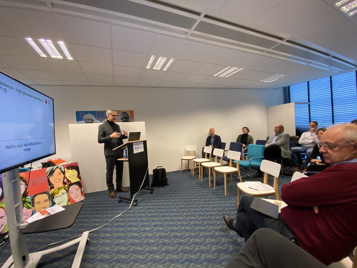 test Twitter Media - Prof Thomas Danne from #aufdenbult hospital Hannover and leader in many studies and organisations on #type1 #diabetes visits @DiabeterNL and gives a very nice lecture on #beyondType1 #timeinrange #importance of changing diabetescare https://t.co/AQIZnuJF0M