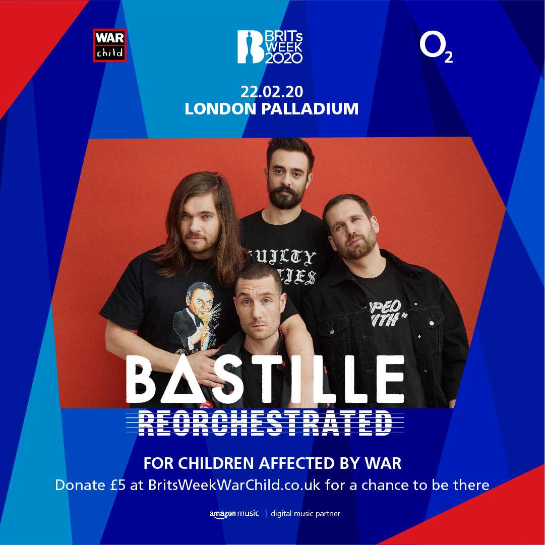 Prize Draw is NOW OPEN for @bastilledan at @LondonPalladium on Saturday 22nd February a part of #BRITsWeek 2020 together with @O2music for War Child!  For all info & to win tickets head here:  ❤️