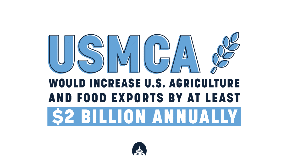 ‼️ Yesterday, the #USMCA passed the Senate & now heads to @POTUS for signature. Enacting this trade agreement is long overdue, but I'm glad to know that we'll soon bring much needed certainty & opportunity to America's workers & our economy.