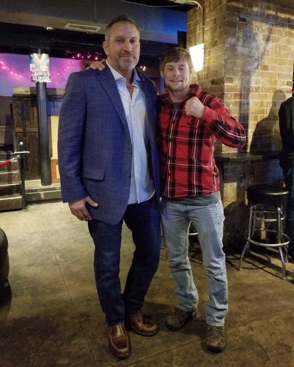 Good to see my buddy @ThugnastyMMA at his UFC promo tonight at Brewskis