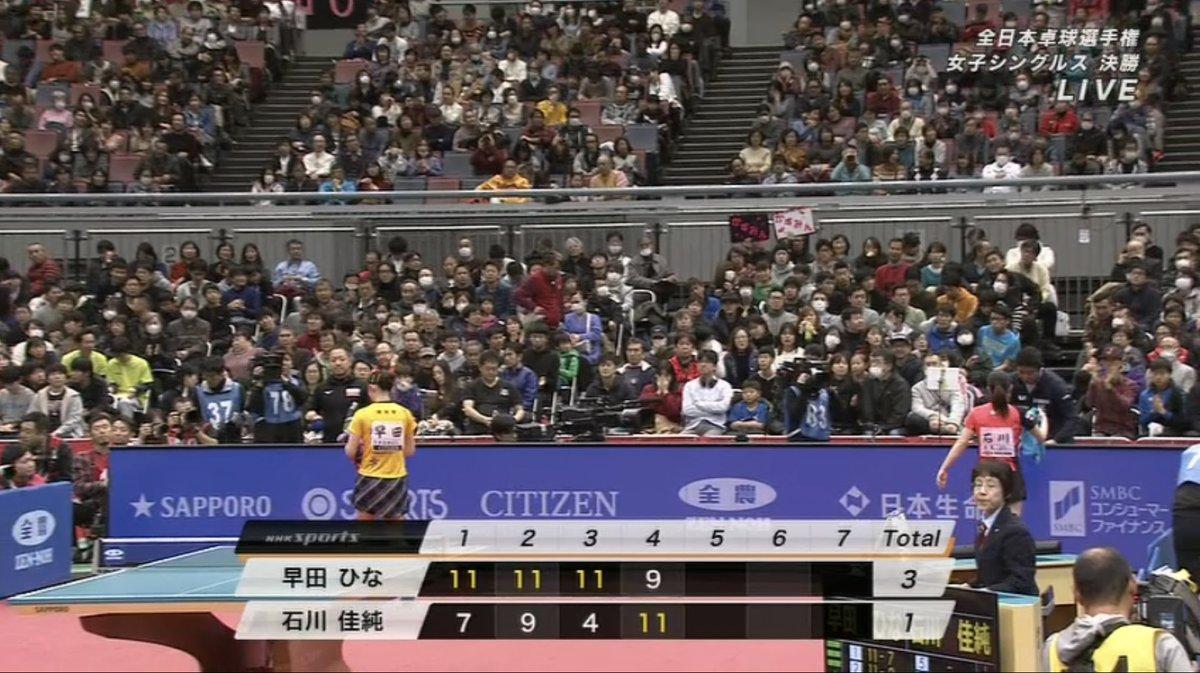 test ツイッターメディア - 凄すぎ。 早田ひな無双かと思うほど 3ゲーム連取だったが、 石川選手も意地を見せた。   #NHK #Eテレ #卓球 #全日本卓球選手権 #早田ひな #石川佳純  #福原愛 https://t.co/sSqP67RQ6D