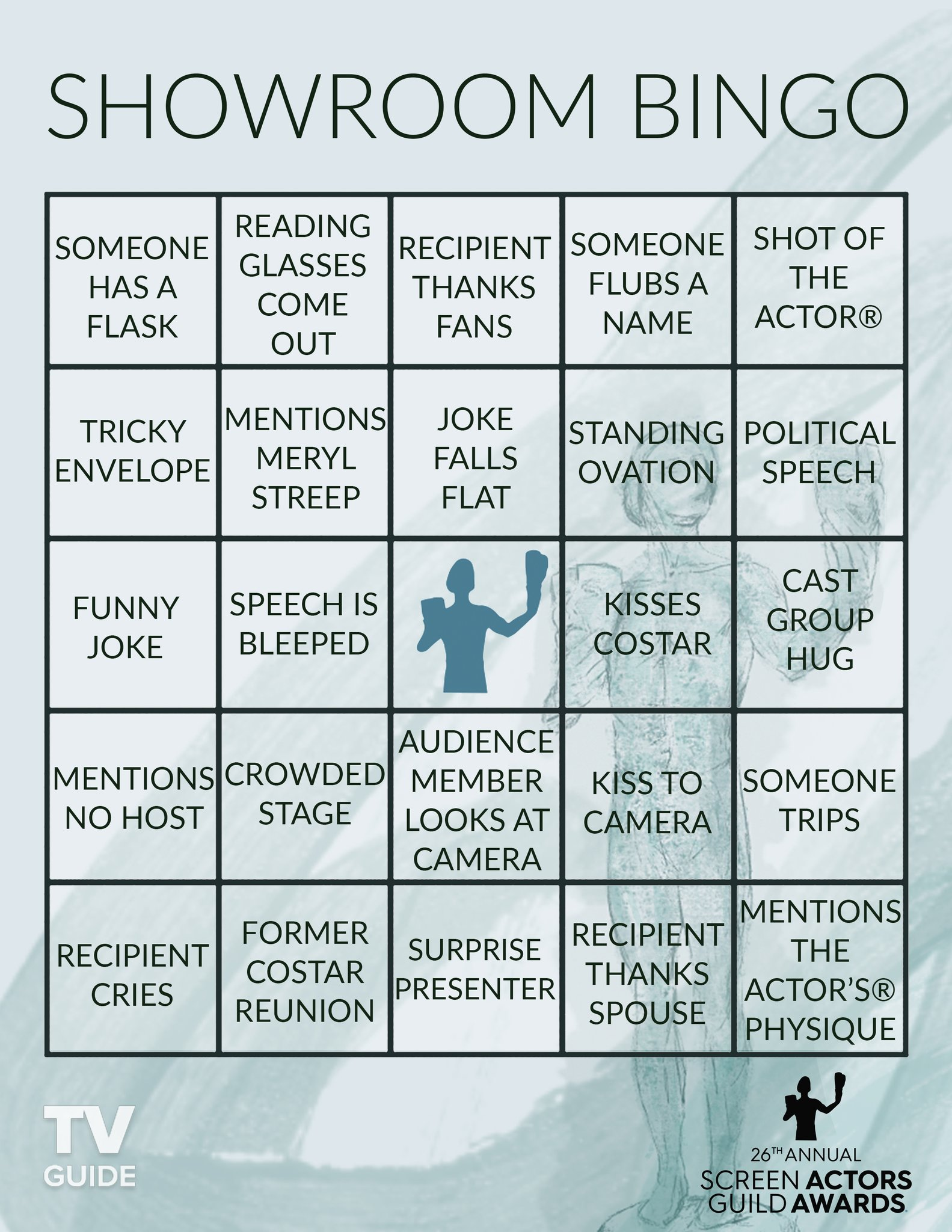 @SAGawards More Bingo cards for your @SAGawards  viewing party 🎈 https://t.co/zCxi1UCfer