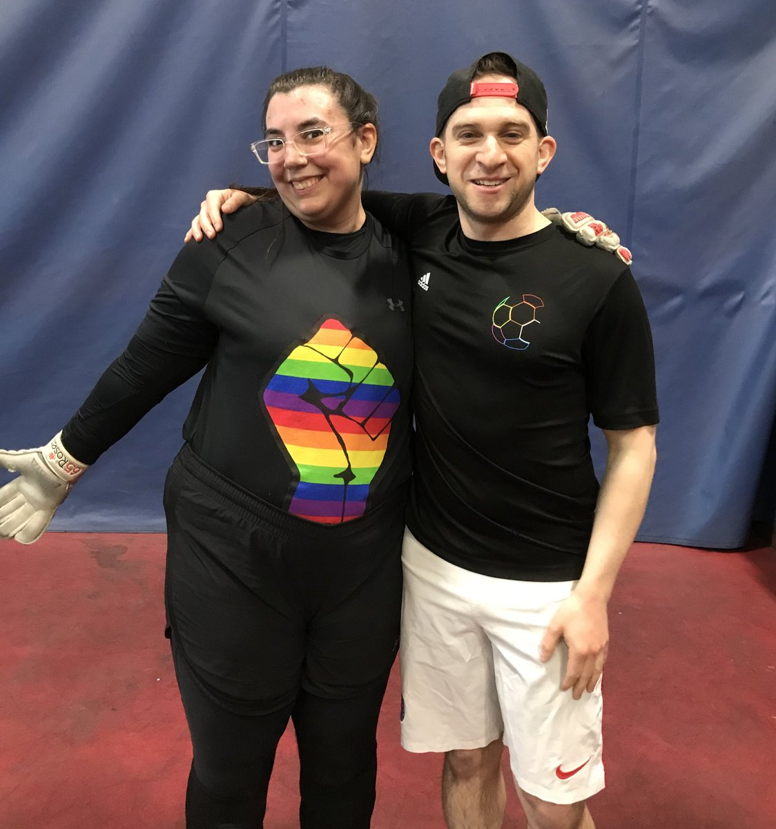 Represented @SFSpikes this weekend at the International Gay Lesbian Football Association World Indoor Championship '20 @TheSCClassic. @BlackAndAzul producer @jasonsholl also reffed. Shannon, our goalie, wore the most legit kit ever. Saw old friends & made new ones! ⚽️🏳️🌈🇲🇽🇨🇦🇺🇸👊
