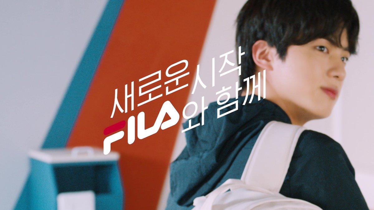 New beginning, with FILA ~ GO-#FILA GO-#BTS (Jin Ver.)  ✔ Check the video :   #휠라 #방탄소년단 #RM #Jin #SUGA #jhope #Jimin #V #JungKook #FILA #새학기 #신학기 #새학기가방 #신학기가방 #백팩 #백팩추천 #backtoschool  @BTS_twt