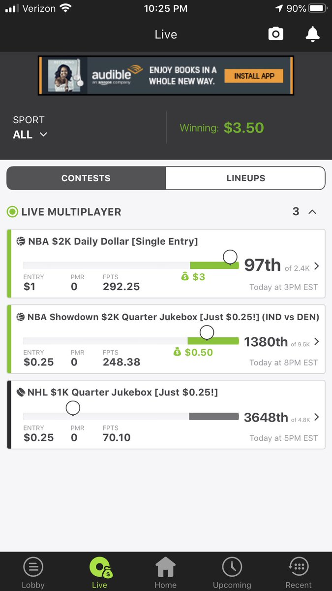 test Twitter Media - Only played $1.50 total today. #Draftkings #DFS #NBA https://t.co/PZfRN6wk1Y
