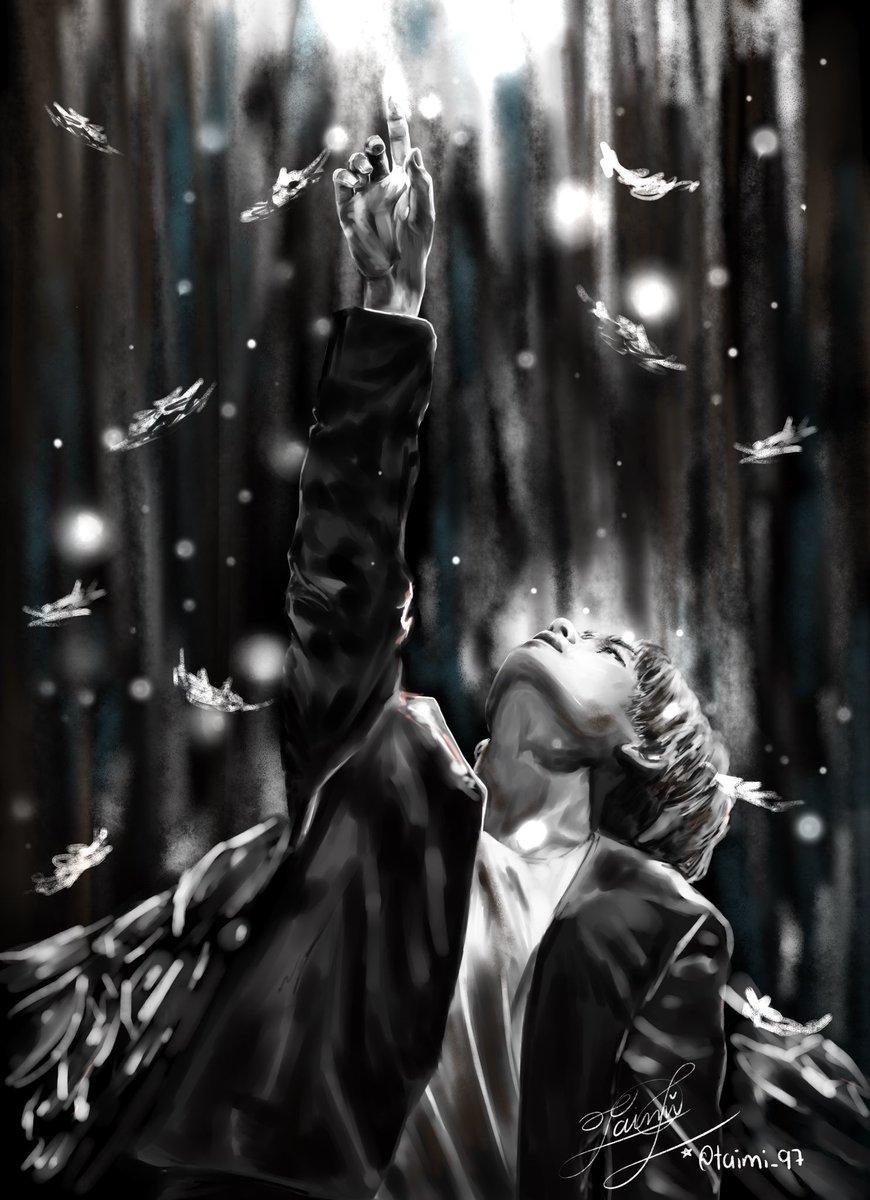 Black Swan 🖤🦢 In my version with Tae  @BTS_twt #CONNECTBTS #BlackSwan #KimTaehyung #btsfanart #StreamBlackSwan #CONNECT_BTS #MOTS7 #MOTS7isComing
