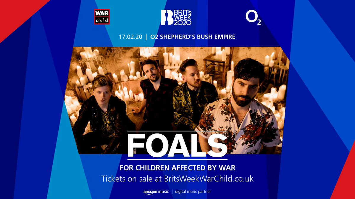 LONDON! Pleased to announce a special headline show in support of @warchilduk at Shepherd's Bush Empire on 17 Feb as part of #BRITsWeek. All proceeds go to supporting War Child's work protecting children affected by conflict.   Tix available Friday at 9a